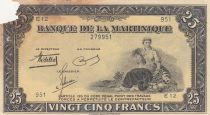 Martinique 25 Francs ND1943 - Agriculture - Série E12