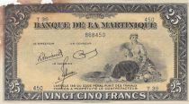 Martinique 25 Francs ND1943 - Agriculture - Série T35