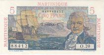 Martinique 5 Francs Bougainville - 1946 Série O.20