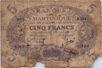 Martinique 5 Francs Cabasson, Bleu - 1901 (1935) Série H.352