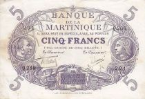 Martinique 5 Francs Cabasson, Violet