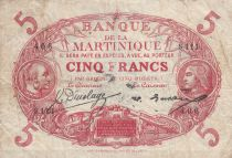Martinique 5 Francs Cabasson ND1934 - Série S.111