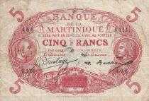 Martinique 5 Francs Cabasson ND1934 - Série S.111