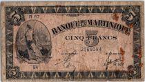 Martinique 5 Francs Liberté - 1942 (1944) - Série R.87