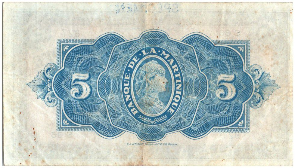 Martinique 5 Francs Liberty - 1942 - Specimen - 1942