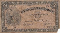 Martinique 5 Francs Marianne 1942 - Liberté - Série E99