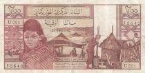 Mauritanie 20 Ouguiya 1973 - Jeune fille, scène de village, , dromadaires