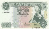 Mauritius 25 Rupees Elizabeth II - Serial A.13 - AU - P.32b
