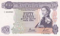 Mauritius 50 Rupees Elizabeth II - Serial A8 - UNC - P.33c