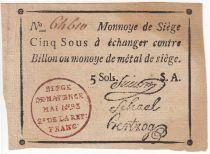 Mayence 5 Sols Noir - Tampon rouge - Série A Mai 1793