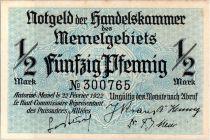 Memel 1/2 Mark  Baie - 1922 n° 300765