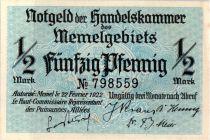 Memel 1/2 Mark  Baie - 1922 n° 798559