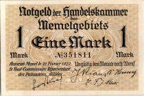 Memel 1 Mark  Dune - 1922
