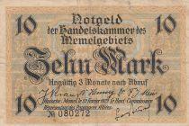 Memel 10 Mark Phare - 1922