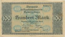 Memel 100 Mark View of Memel - 1922