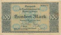 Memel 100 Mark View of Memel - 1922