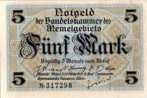 Memel 5 Mark Bourse - 1922