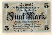 Memel 5 Mark Bourse - 1922