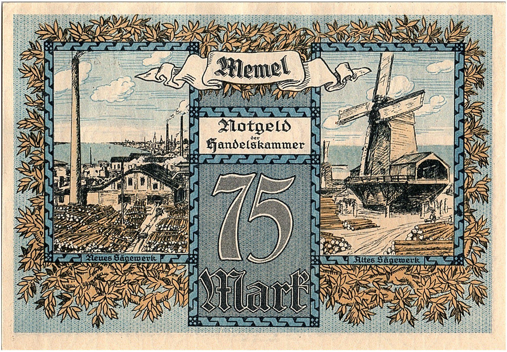 Memel 75 Mark Scieries - 1922