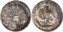 Mexico 1/2 Real National Emblem - 1830 MO JM Mexico