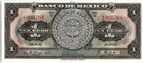 Mexico 1 Peso - Aztec calendar- Momument - 14/04/1943