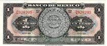 Mexico 1 Peso - Aztec calendar- Momument - 1948