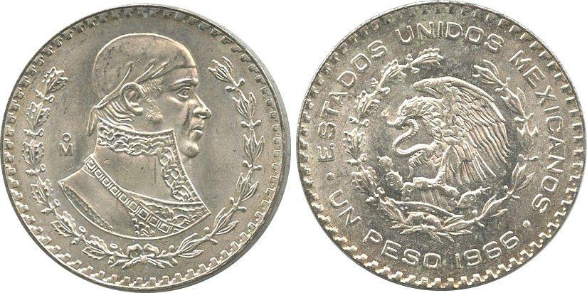Mexico 1 Peso J.M. Morelos - National arms