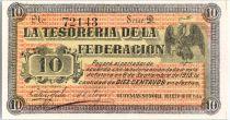 Mexico 10 Centavos - Tesoreria de la Federacion - View of Coast 1914