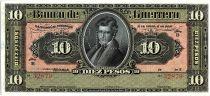 Mexico 10 Pesos , V G Saldana - 1914 - Perfored Amortizado