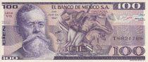 Mexico 100 Pesos - V. Carranza - La Trinchera painting - Stone figure - 1982