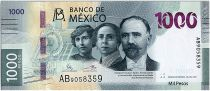 Mexico 1000 Pesos - Francisco I. Madero, Hermila Galindo y Carmen Serdán. - Jaguar - 2019 (2020) - UNC