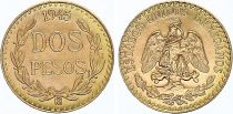 Mexico 2 Pesos National arms 1945 - Gold