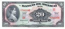 México 20 Pesos - Josefa Ortiz de Dominguez - Federal Palace Queretaro - 1970