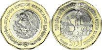 Mexico 20 Pesos 2019 - Bimetal - 500 Years of country Veracruz - AU