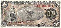 Mexico 20 Pesos Seated Liberty - Arms - 01/12/1914