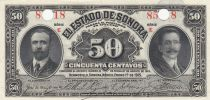 Mexico 50 Centavos 1915 - Sonora - Perforated with two holes