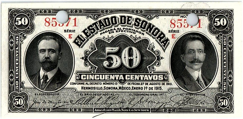 Mexico 50 Centavos I. Madero, J.M. Pino - 1915