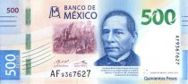 Mexico 500 Pesos - Benito Juarez - Whales - 2017 (2018)