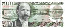 Mexico 500 Pesos - Madero - Bas-relief - 1984