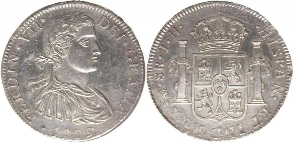 Mexico 8 Reales Ferdinand VII