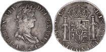 Mexico 8 Reales Ferdinand VII - Arms - 1821 Zs RG Zacatecas