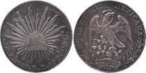 Mexico 8 Reales National  Arms - 1889 Zs FZ Zacatecas