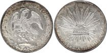 Mexico 8 Reales National  Arms - 1895 Cn AM Culiacan