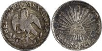 Mexique 1/2 Real Armoiries - Liberte 1862 MO