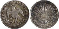 Mexique 1/2 Real Armoiries - Liberte 1862 MO