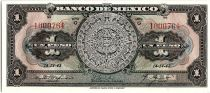 Mexique 1 Peso - Calendrier Aztèque - Momument - 14/04/1943