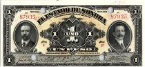 Mexique 1 Peso, Estado de Sonora - 1915 - Annulé par 4 Perforations