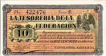 Mexique 10 Centavos - Emblème  - Paysage 1914