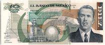 Mexique 10 Nuevos Pesos, - Général Lazaro Gardenas  - 1992