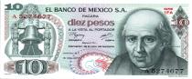Mexique 10 Pesos - M. Hidalgo y Castilla - Cathédrale Dolores - 1977